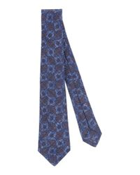 Kiton - Blue Tie for Men - Lyst
