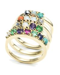 "Lulu Frost - Multicolor Code 18kt ""love"" Ring - Lyst"