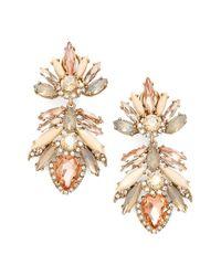 Marchesa - Pink 'crystal Drama' Drop Earrings - Lyst