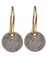 Monica Vinader | Metallic Gold Vermeil Ava Diamond Pavé Earrings | Lyst
