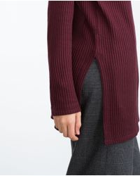 Zara | Purple Textured Top | Lyst