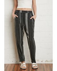 Forever 21 - Black Geo-striped Pants - Lyst