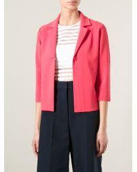 P.A.R.O.S.H. | Red Ritz Crepe Jacket | Lyst