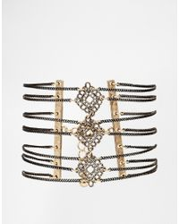ASOS - Metallic Multi Row Filigree Anklet - Lyst