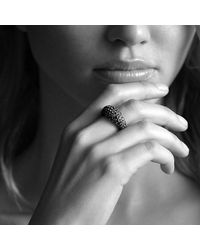 David Yurman - Pavé Dome Ring With Color Change Garnets In White Gold - Lyst