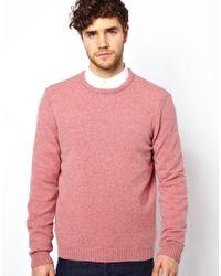 ASOS - Pink Lambswool Jumper for Men - Lyst