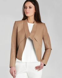 BCBGMAXAZRIA - Brown Jacket - Lloyd Bonded Faux Leather - Lyst