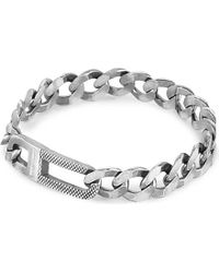 Tateossian | Metallic Grumette Sterling Silver Bracelet for Men | Lyst