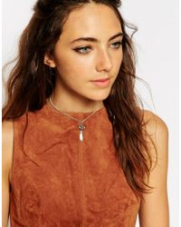 ASOS - Blue Mini Dream Catcher Necklace - Lyst