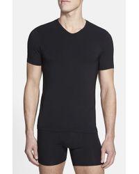 Naked | Black 'luxury' Micromodal Blend V-neck T-shirt for Men | Lyst