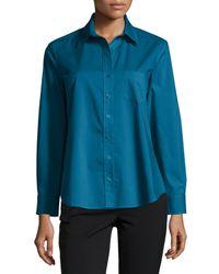 Finley | Blue Kaylynn Button-front Tunic | Lyst