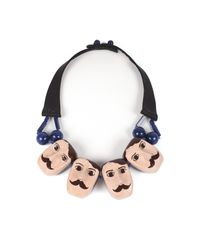 Dina Khalife - Black The Swimmers Boys Team Necklace - Lyst