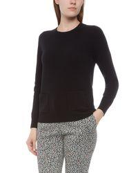 Jaeger - Black Cashmere Pocket Sweater - Lyst