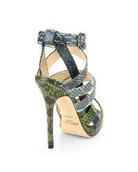Jimmy Choo | Dido Snakeskin Platform Sandals | Lyst