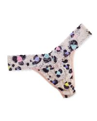 Hanky Panky - Multicolor Original-Rise Inky Leopard-Print Lace Thong - Lyst