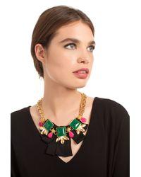Trina Turk - Black Ribbon And Stone Frontal Bib - Lyst