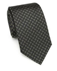 Armani - Brown Cross Print Silk Tie for Men - Lyst