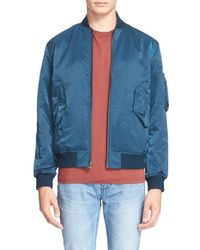 BLK DNM | Blue 'jacket 93' Bomber Jacket for Men | Lyst