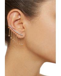 Noir Jewelry - Metallic Fringed Gold-Tone Cubic Zirconia Ear Cuffs - Lyst