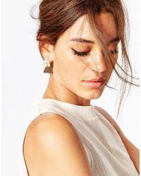 ASOS - Metallic Teardrop Occasion Swing Earrings - Lyst