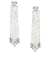 Lipsy - Metallic Baguette Shoulder Duster Earrings - Lyst