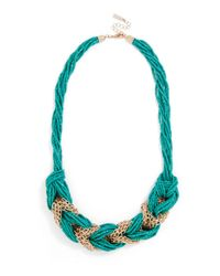 BaubleBar | Green Braided Bead Collar | Lyst