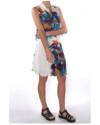 Elle Sasson - Blue Parrot Print Cisco Top - Lyst