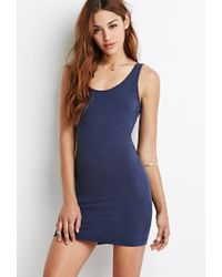 Forever 21 | Blue Scoop Back Bodycon Dress | Lyst