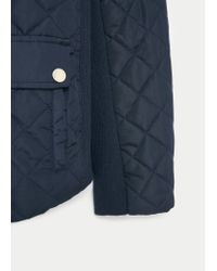 Violeta by Mango - Blue Paneled Water-repellent Quilted Jacket - Lyst