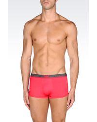 Emporio Armani | Pink Microfiber Boxer for Men | Lyst