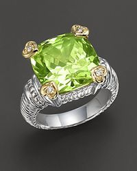 Judith Ripka | Green Peridotcrystal Heart Prong Ring | Lyst