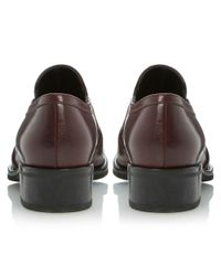 Dune | Purple Lockton Slip-On Block Heel Leather Shoes | Lyst