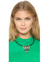 Adia Kibur - Metallic Sara Necklace - Gold/black - Lyst