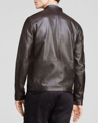 Theory - Brown Arvid L Revolt Leather Jacket for Men - Lyst