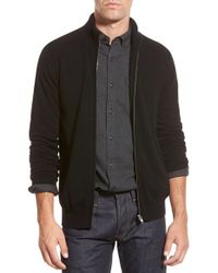 Bonobos | Black Cashmere Zip Sweater for Men | Lyst