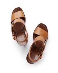 Tory Burch | Brown Thames Sandal | Lyst