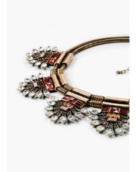 Mango - Metallic Crystal Appliqué Necklace - Lyst