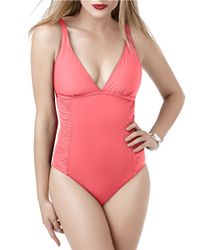 Miraclesuit | Pink Solid Story Xanadu One-piece Swimsuit | Lyst