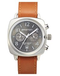 Briston - Gray Chronograph Leather Strap Watch for Men - Lyst