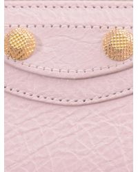 Balenciaga - Pink Giant Arena Studded Leather Wallet - Lyst