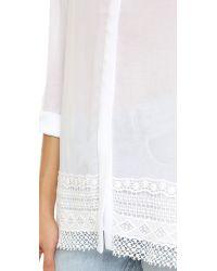 DKNY - Button Shirt - White - Lyst