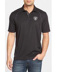 Tommy Bahama - Black 'firewall - Oakland Raiders' Short Sleeve Nfl Polo for Men - Lyst