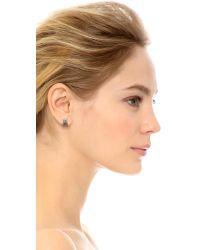 Michael Kors - Metallic Open Pave Huggie Earrings Silverclear - Lyst