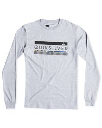 Quiksilver - Gray Logo Graphic Long-sleeve T-shirt for Men - Lyst