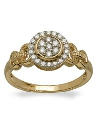 Lord & Taylor | Metallic Diamond And 14k Yellow Gold Ring | Lyst