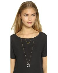 Madewell - Metallic Duster Double Necklace - Light Worn Gold - Lyst