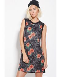 Forever 21 | Black Eric + Lani Rose Print Mesh Dress | Lyst