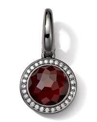 Ippolita | Red Black Sterling Silver Garnet & Diamond Lollipop Charm | Lyst