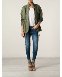 Current/Elliott - Green The Leisure Parka Jacket - Lyst