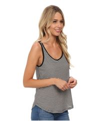 Volcom | Black Lived In Stripe Tank Top | Lyst